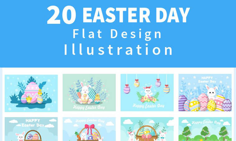 20 Happy Easter Day Illustration