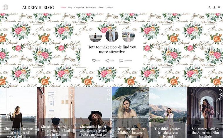 Audrey Fashion Web Design for Women