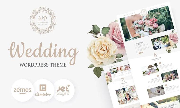 Belle Fleur - Wedding Landing WordPress theme