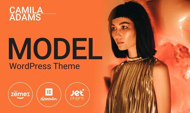 Camila Adams - Model Fashion WordPress theme