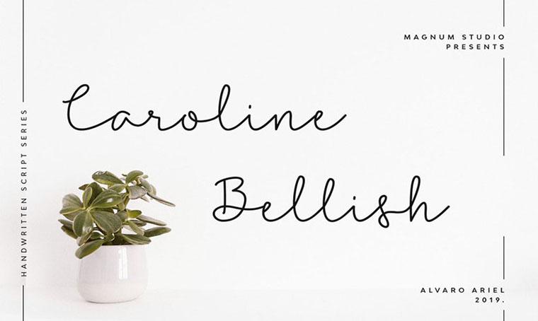 Caroline Bellish Aestetic Fonts