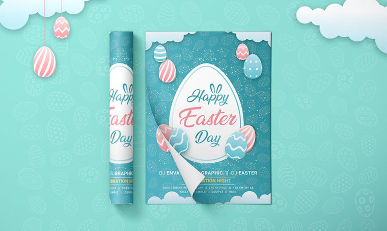 Easter Corporate Identity - Template For Easter Photoshop Tutorial