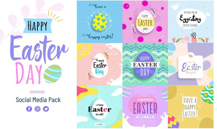Easter Day Social Media Template