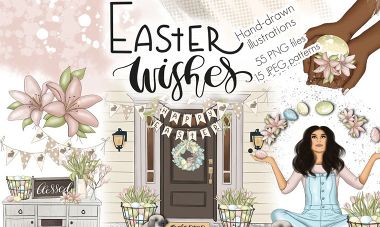 Easter Wishes - Graphic Design Kit
