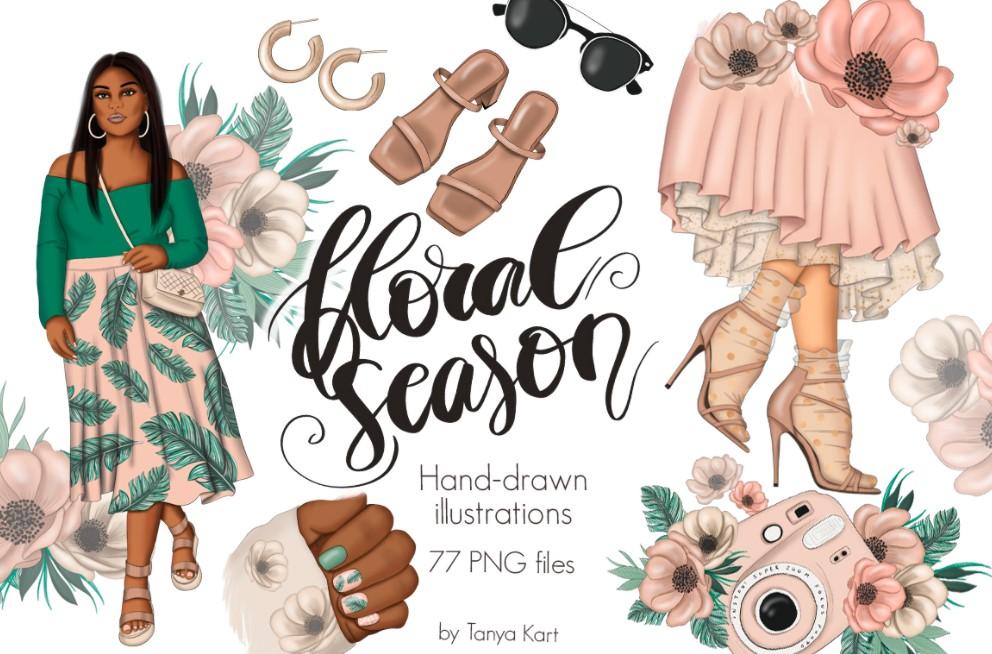 Floral Season Clipart
