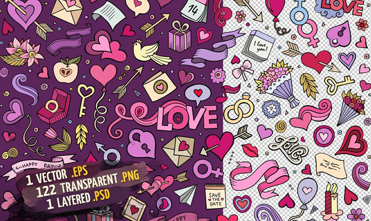 Love Objects And Symbols Set