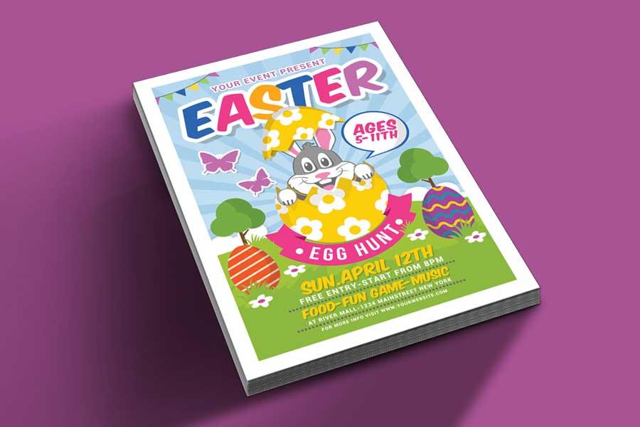 Egg Hunt For Kids Easter invitation template