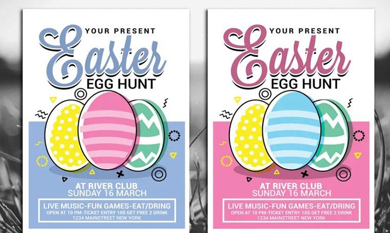 Easter Egg Hunt Vol 1 - Template For Easter Photoshop Tutorial