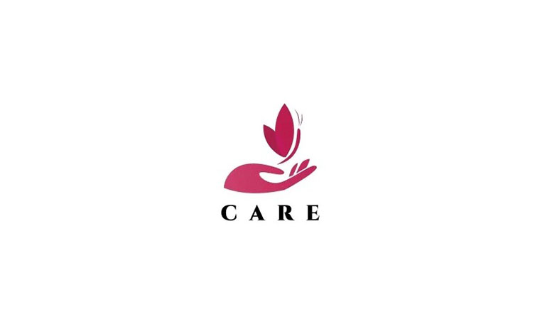 Hand Care Butterfly Logo Template