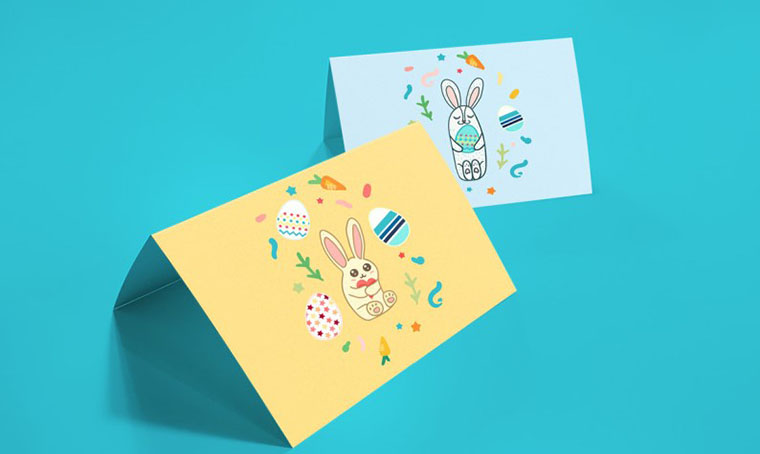 Happy Easter Greetings - Template For Easter Photoshop Tutorial