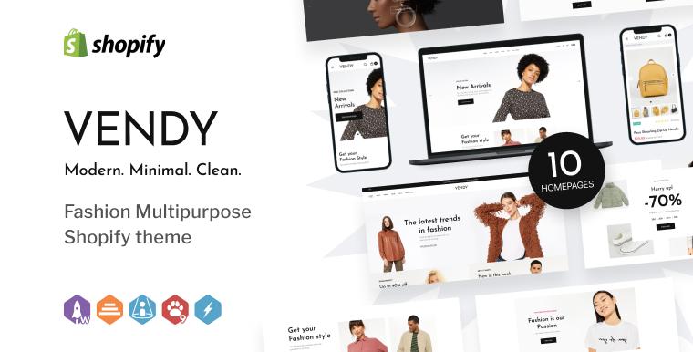 Vendy - Multipurpose Shopify Theme.