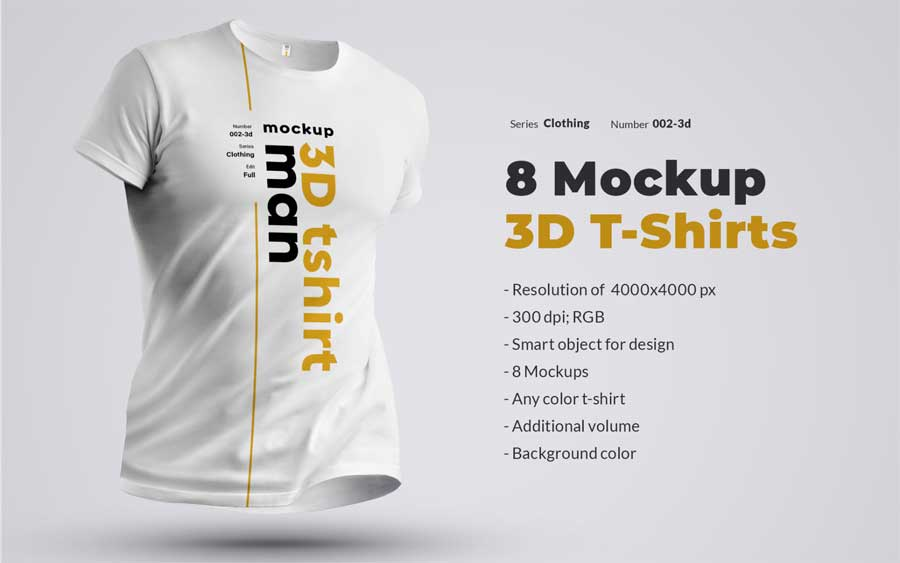 3d Man Product Mockup