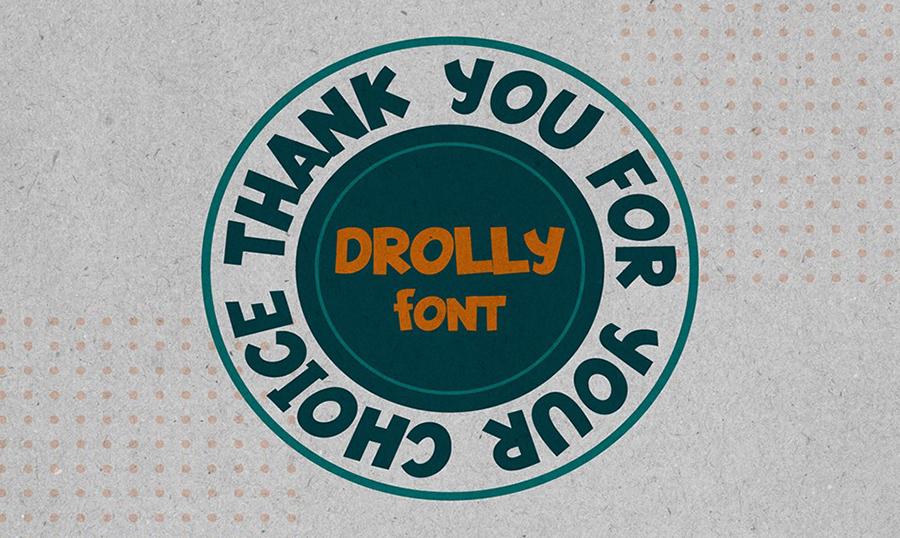Drolly Comic Cyrillic Font