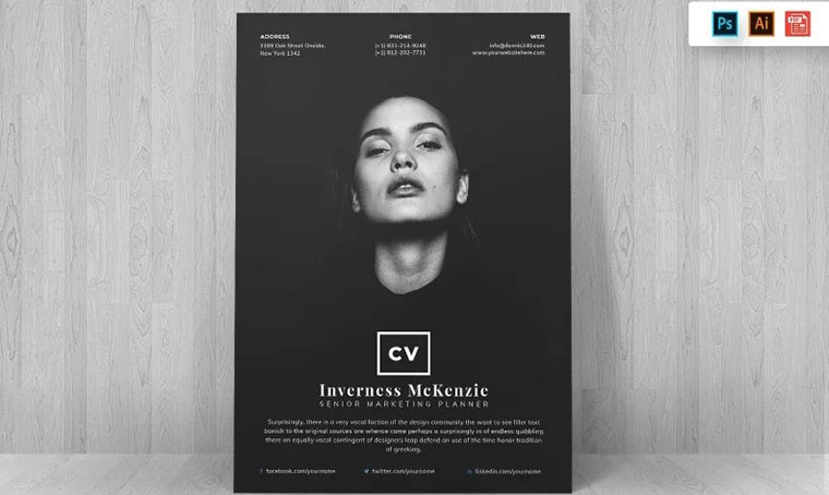 Inverness McKenzie CV Template Word