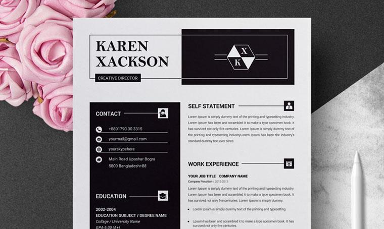 Karen Xackson CV Template Word