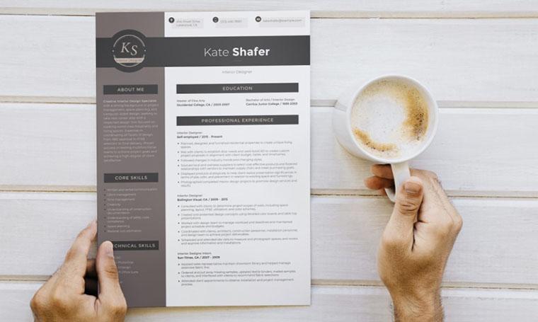 Kate Shafer CV Template Word