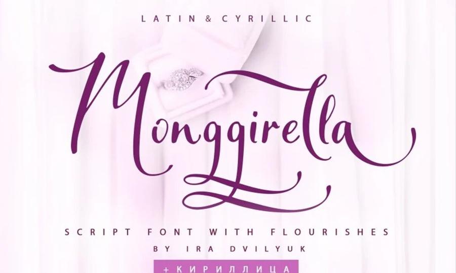 Monggirela Cyrillic Font