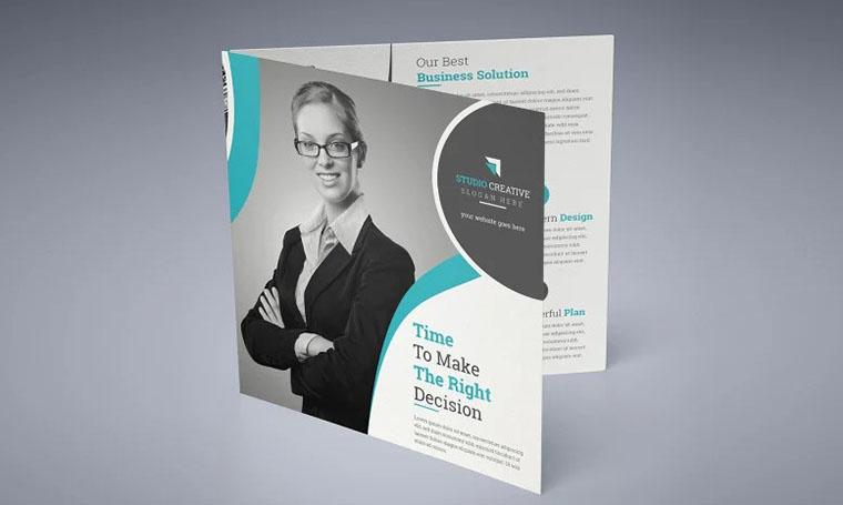Stylish Grey Brochure Templates Google Docs