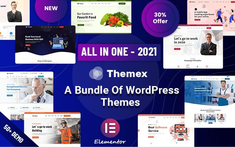 Themex - Responsive Multi-Purpose WordPress Theme.