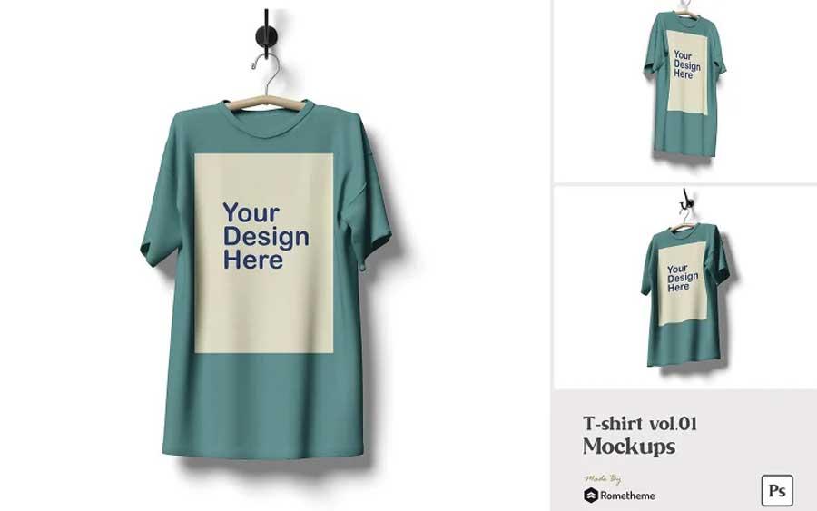 t-shirt mockups illustrator