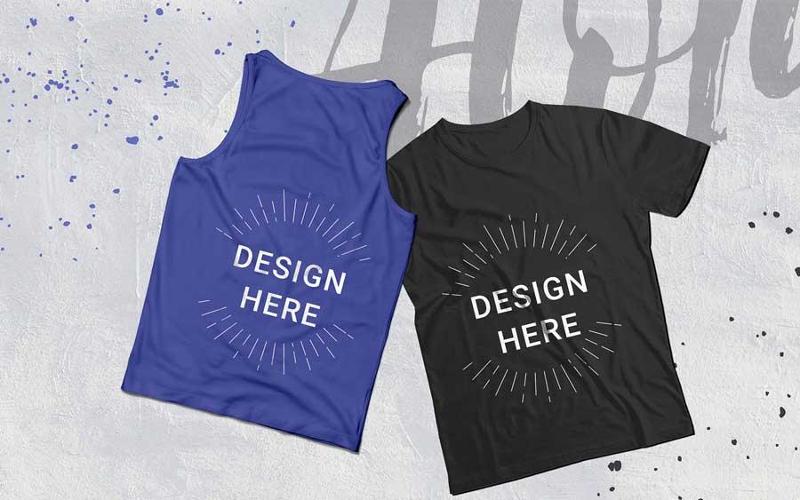 tank t-shirt mockups illustrator