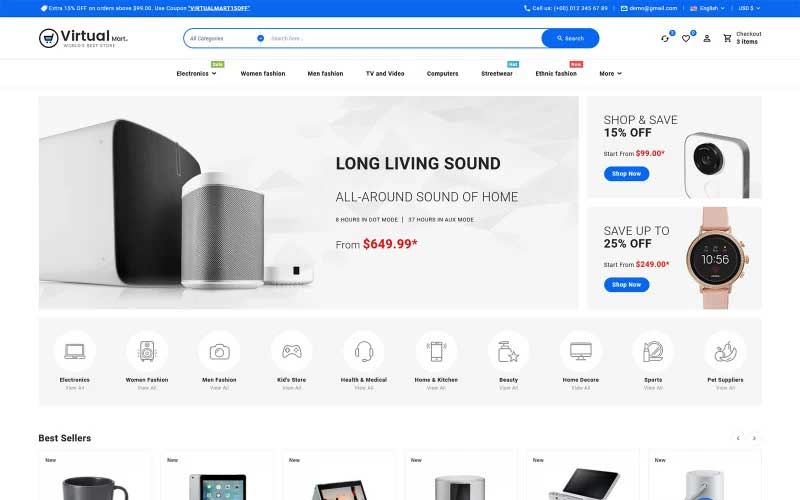 Virtualmart – Electronics Store Multipurpose PrestaShop Theme