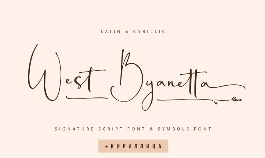 West Byanetta Cyrillic Font