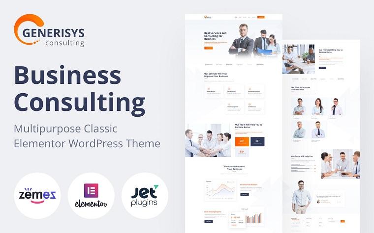 Generisys - Business Consulting Multipurpose Classic WordPress Elementor Theme.