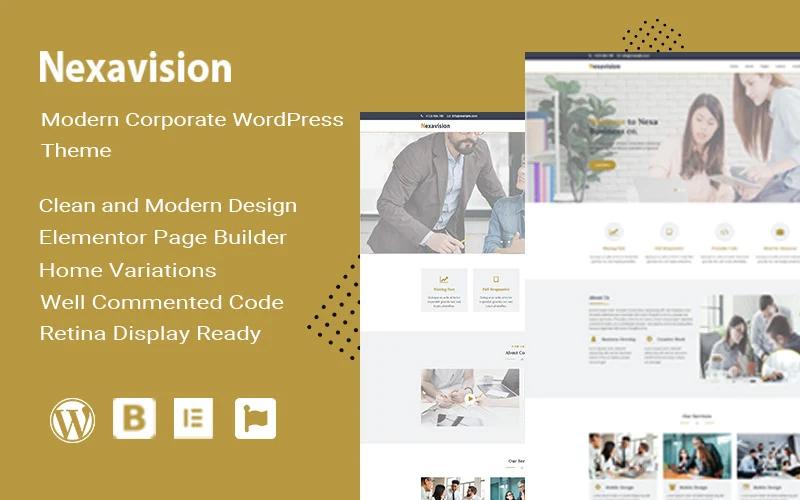 Nexavision - Multipurpose Website Builder using Elementor Wordpress Theme