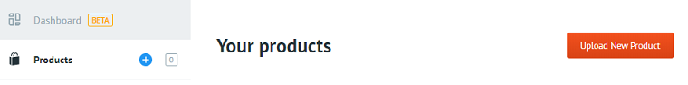 Upload New Product button.
