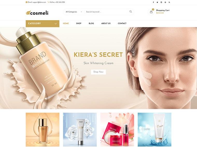 Cosmeli - Cosmetics & Beauty for WordPress. WooCommerce Theme.
