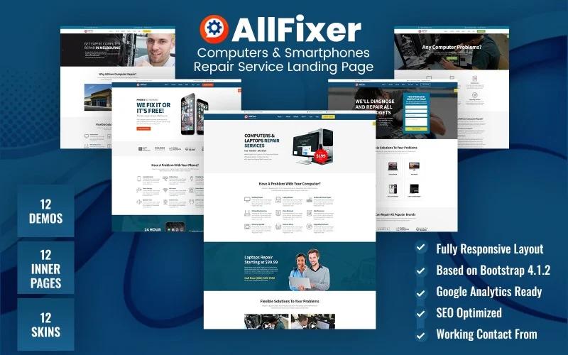 AllFixer - Computers & Smartphones Repair Service WordPress Theme
