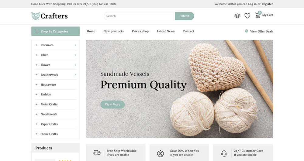 Crafter - Art and Furniture Shopify Theme.