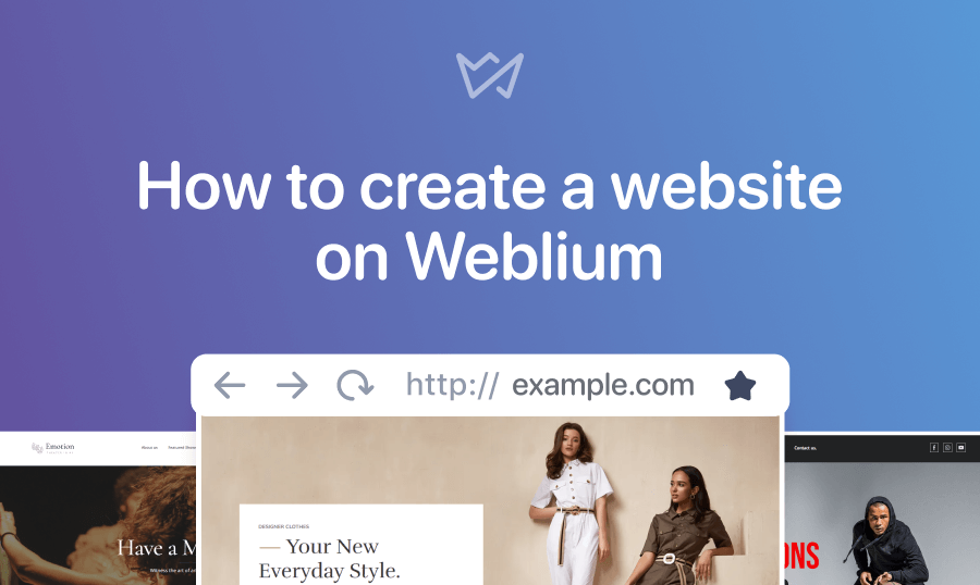 How to create a website on Weblium.