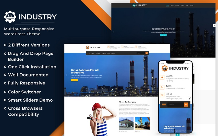 Industry - Multipurpose WordPress theme.