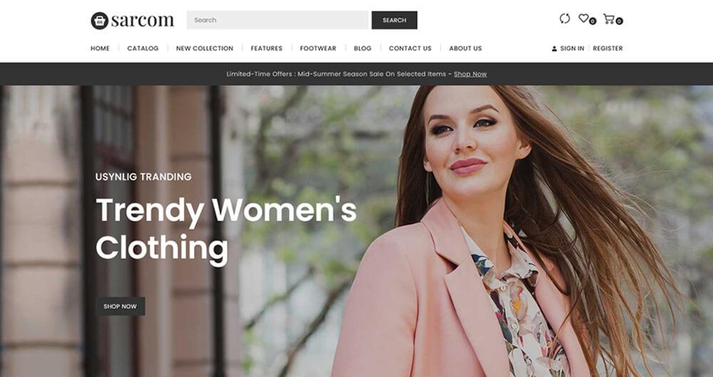 Sarcom - Shopify Fashion Store.