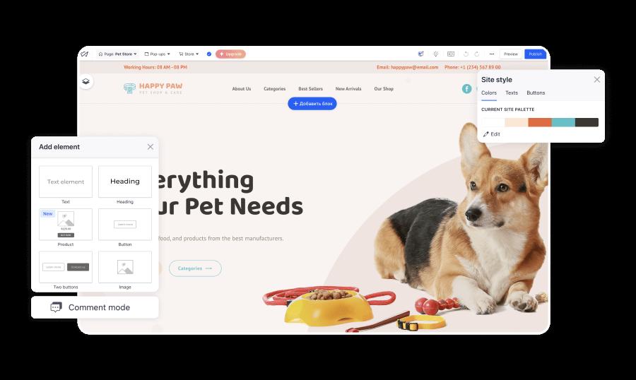 Weblium Customize your template.