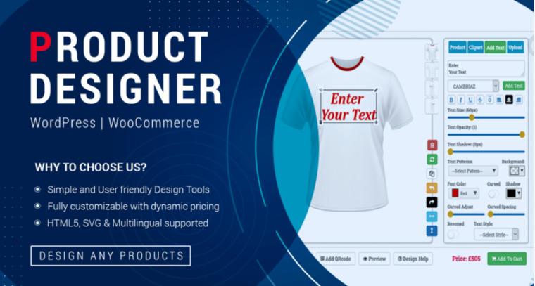 WooCommerce Product Designer Tool.