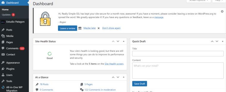 Access your WordPress dashboard.