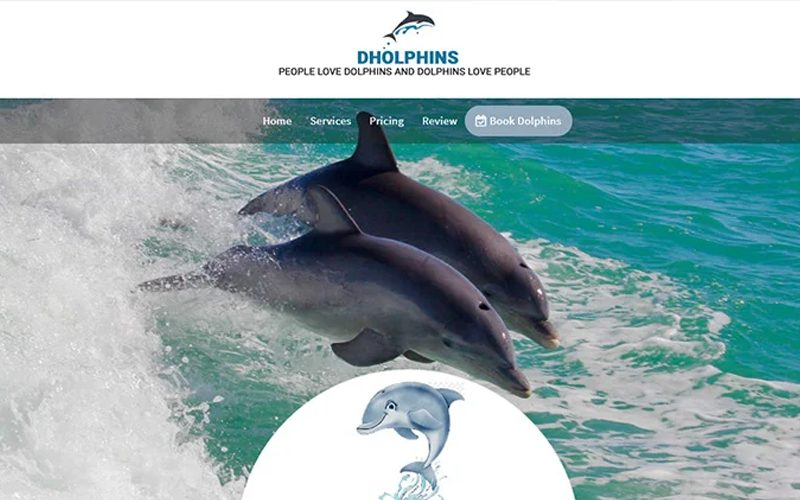 Dolphin Landing Page Template