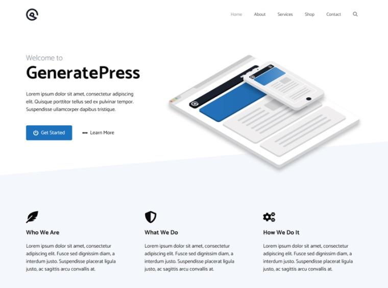 Generatepress - Best Free WordPress Theme.