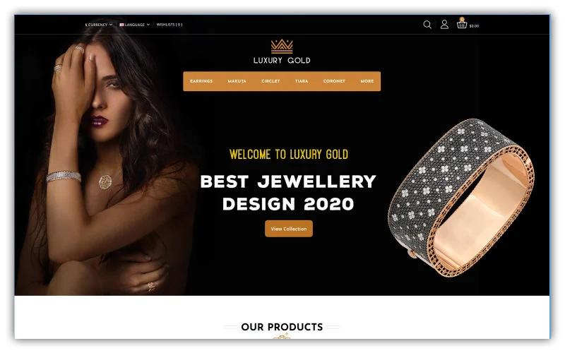 Luxury Gold - Jewellery Store Opencart Theme